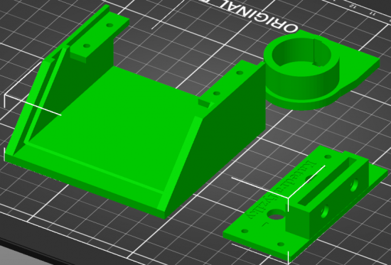 3D model zostavy solárneho motorčeka